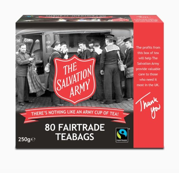 Salvation Army Tea Packaging