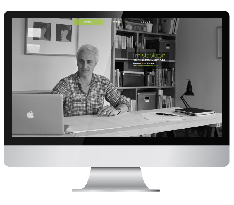 Tim Stapleton Arcitectural Services Website on iMac