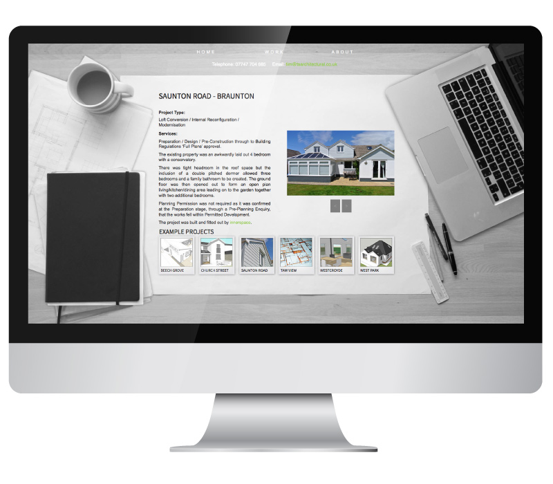 Tim Stapleton Arcitectural Services Website on iMac.jpg